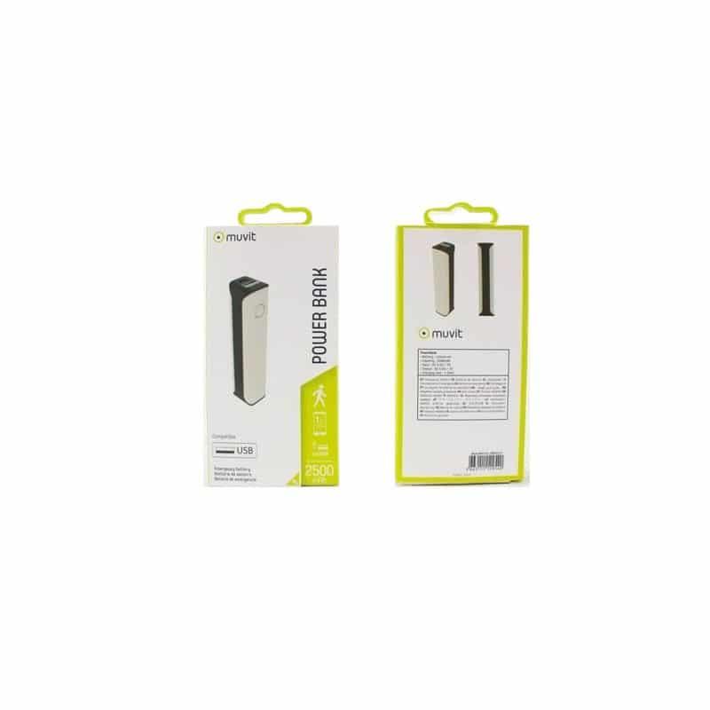 Acheter un Batterie de secours - Powerbank - 2500MAH - Blanc - neuf - paiement plusieurs fois