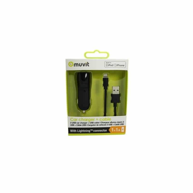 Acheter un Pack Chargeur Allume Cigare 2 USB et Câble Lightning - neuf - paiement plusieurs fois